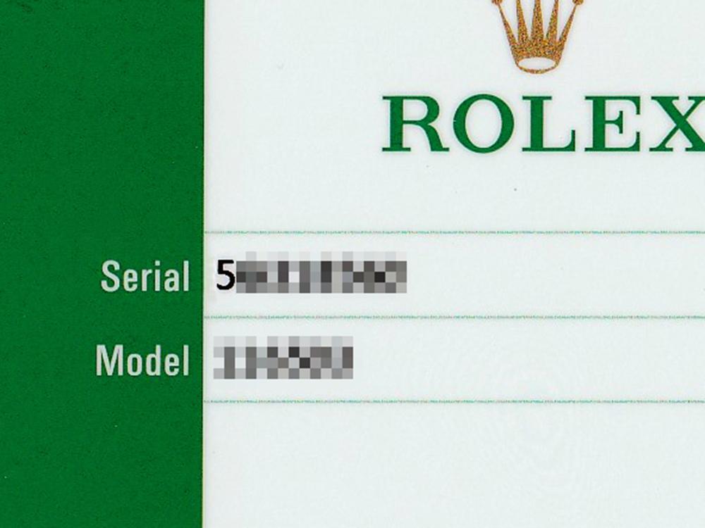 ロレックス シリアルナンバー ギャランティー カード