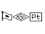 貴金属製品のホールマーク 品位証明の刻印 プラチナ PT850