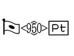 貴金属製品のホールマーク 品位証明の刻印 プラチナ PT950