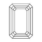 宝石 カットの種類 エメラルドカット