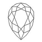 宝石 カットの種類 ペアシェイプ ブリリアントカット