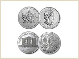 買取可能なプラチナ製品 コイン・メダル