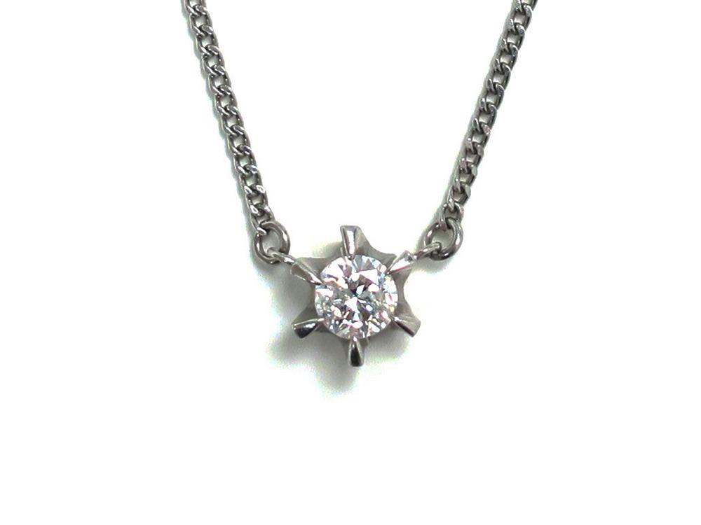 Pt900×Pt850 プラチナ ダイヤモンド ペンダントネックレス 0.36ct 5.9g買取実績 2020.06