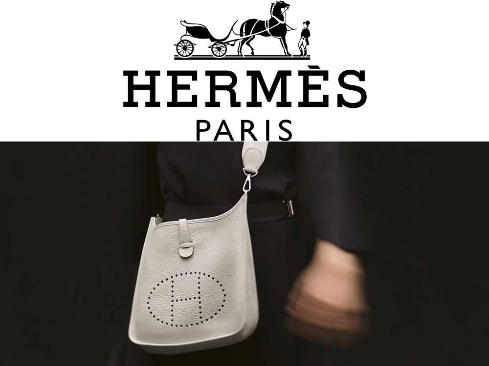 Hのパンチングが印象的でスタイリッシュなバッグ!エルメス「エヴリン」
