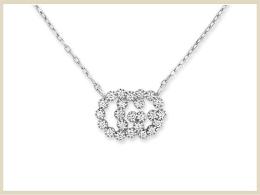 グッチ ペンダント ネックレス 高価買取アイテム ダイヤモンド付きダブルGネックレス 481624