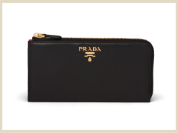 プラダ 財布 ウォレット 高価買取アイテム レザー 財布 1ML035