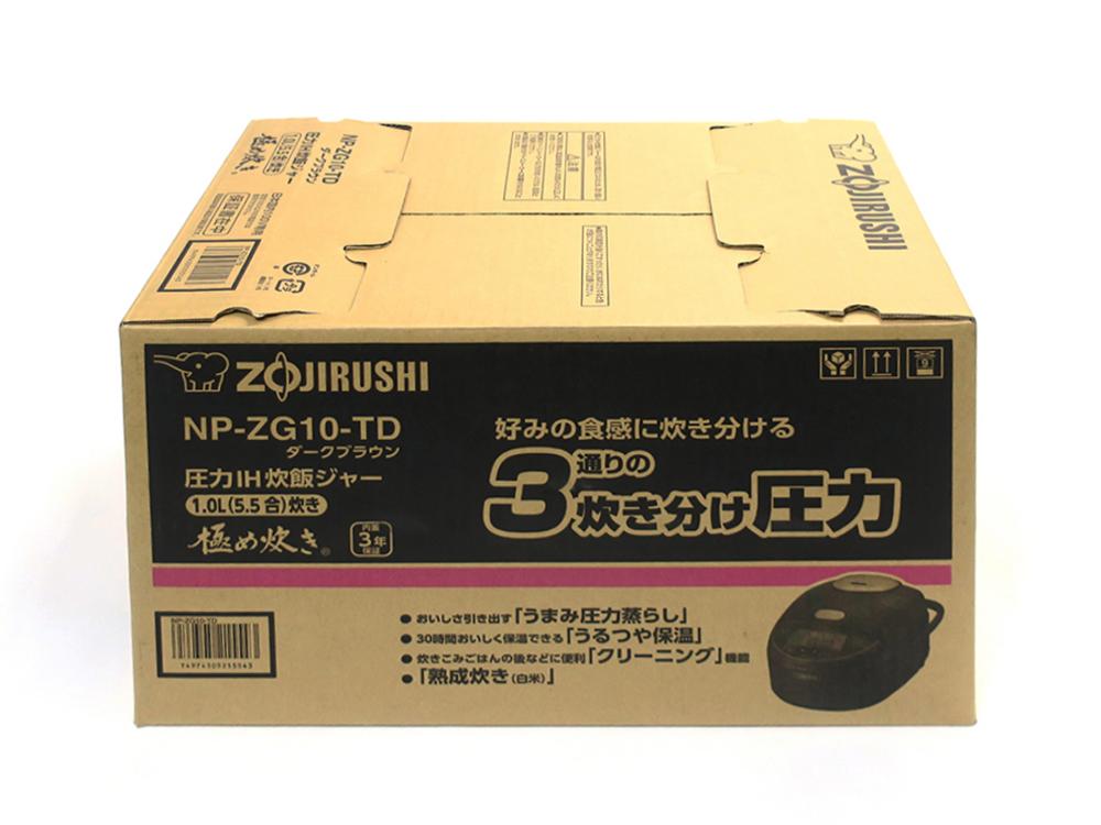 象印 圧力IH炊飯ジャー 極め炊き 5.5合 ダークブラウン NP-ZG10-TD 買取実績 2020.09
