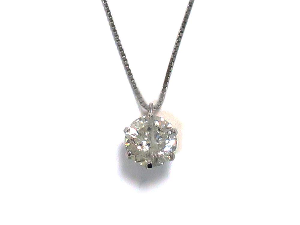 Pt900×Pt850 プラチナ ダイヤモンド ネックレス 1.01ct 3.4g 買取実績 2020.10