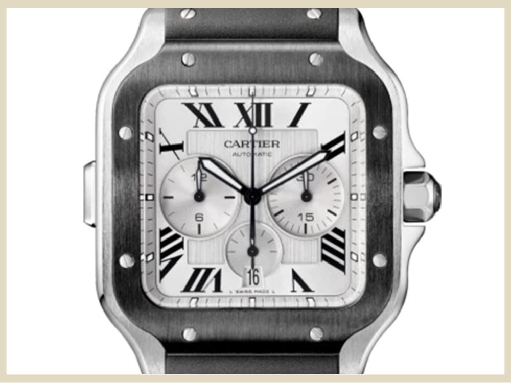 ブランド時計 高価買取アイテム CARTIER カルテイエ サントス ドゥ カルティエ クロノグラフXL WSSA0017