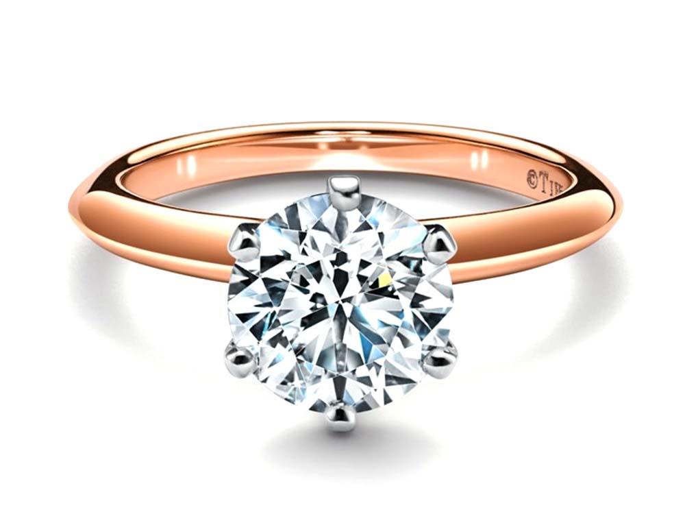 ティファニーのダイヤモンド セッティング ゴールドリング