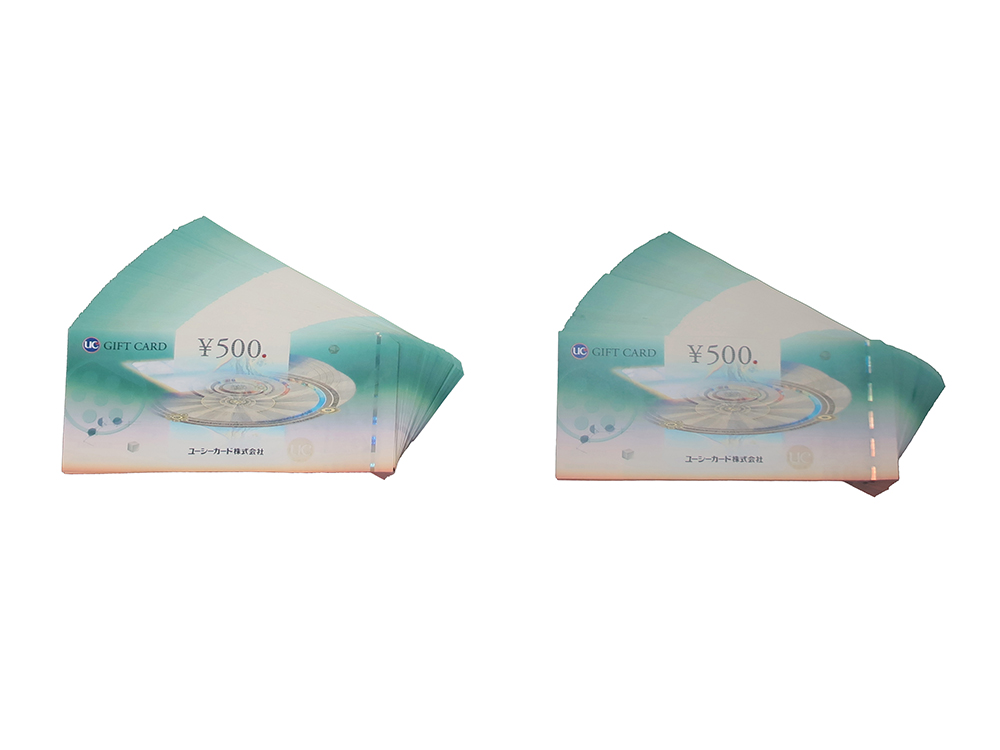 UCギフトカード 500円 200枚 買取実績 2021.01