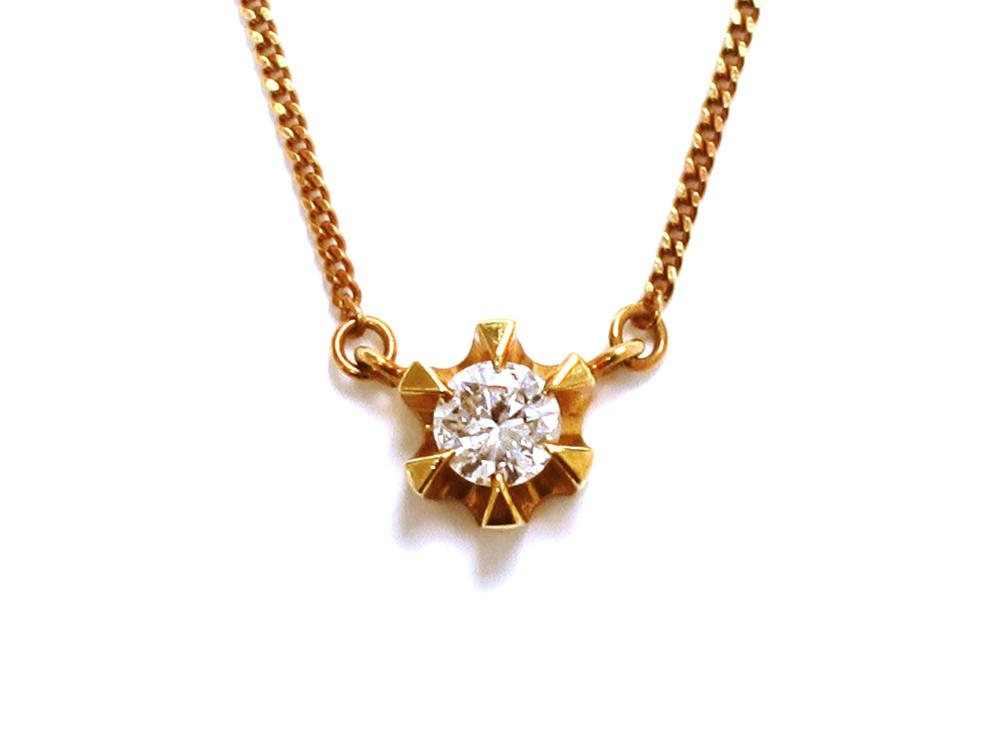 K18 イエローゴールド ダイヤモンド ネックレス 0.26ct 8.3g 買取実績 2021.01