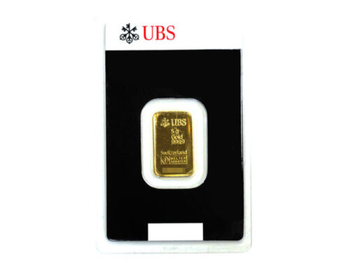 K24C UBS インゴット ゴールドバー 5.0g 買取実績 2021.02