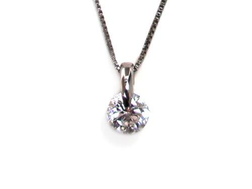 Pt900×Pt850 プラチナ ダイヤモンドネックレス 1.004ct 3.1g 買取実績 2021.04