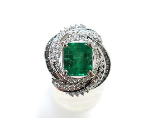 Pt900 プラチナ エメラルドリング 2.31ct ダイヤモンド 1.20ct 10.4g  買取実績 2021.05