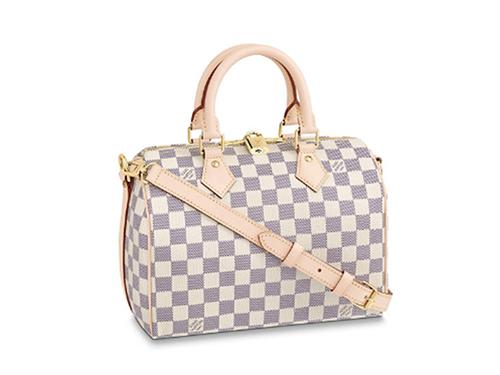 【2021年 秋】ルイ・ヴィトンのダミエ・アズール バッグの中で買取りが高いモデル スピーディ・バンドリエール25 N41374